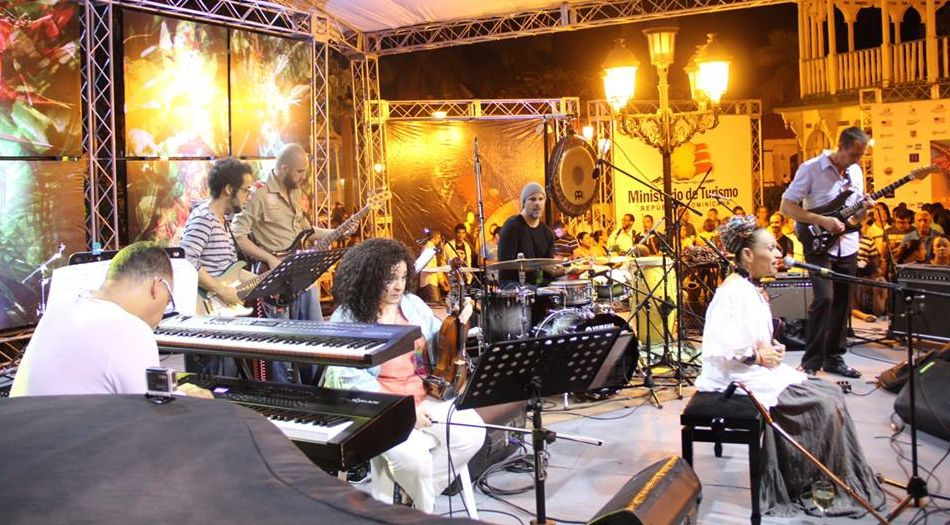 Pat Pereyra y su Banda, Rafelito Mirabal, Guy Frometa & guest Alex Jacquemin. Photo courtesy of Dominican Republic Jazz Festival