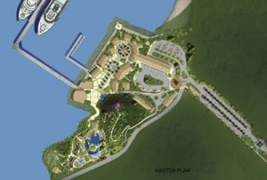 Master plan for Amber Cove Cruise Center. Image courtesy of Carnival Cruise Lines