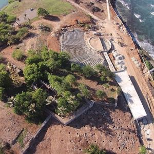 Construction of amphitheater. Photo courtesy of Ministry of Tourism