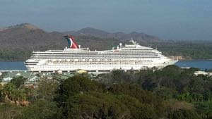 Carnival Victory at Amber Cove Cruise Center. Photo courtesy of the Dominican Ministry of Tourism.