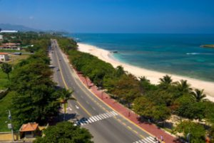 Looking along the scenic Malecón in Puerto Plata. Photo courtesy of the Dominican Ministry of Tourism